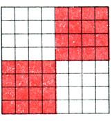 Рис. 66. Пример схемы вязания квадратов