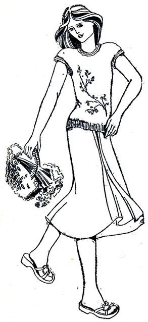 144. Ширина переда и окружность руки у плеча