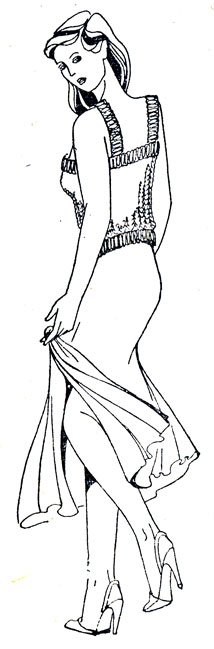 Выкройка основа для платья 50 размера