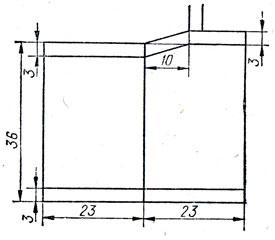 155. Боковой шов спинки модели прямого силуэта для фигур с узкими (пунктирная линия) и широкими (утолщенная линия) бедрами