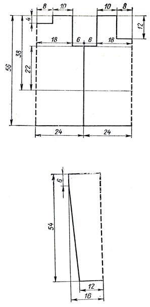 179. Расчет для вывязывания горизонтальной вытачки