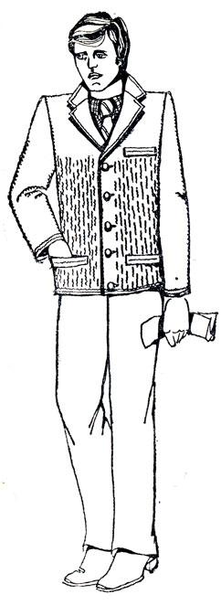 245. Выкройка прилегающего воротника 'хомут'