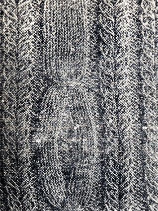 250. Использование частичного вязания при выполнении воротника