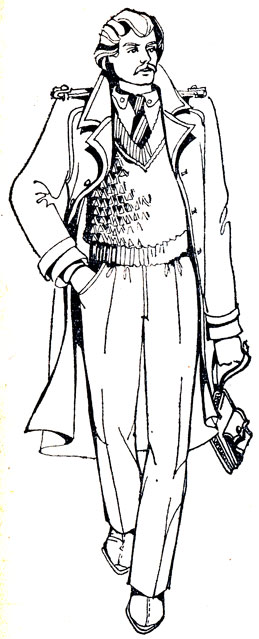 254. Выкройка-основа с рукавами реглан на женскую фигуру 48-го размера